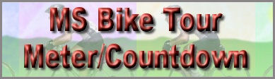 Bike Mike Pledge Meter and MS Bike Tour Countdown