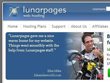 Bike Mike World new home is Lunarpages